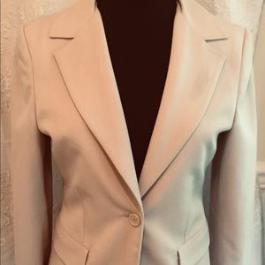 CAbi Light Beige Single Button Dress Blazer Size 6